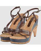 Costume National Platform Sandals - Lyst