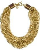 Michael Kors Multi-chain Twist Necklace, Golden - Lyst