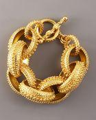 Oscar de la Renta Textured Link Bracelet - Lyst
