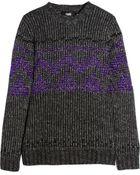 Versus  Metallic Alpaca-blend Sweater - Lyst