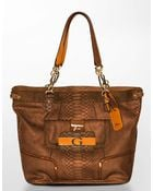 Guess Fallon Python-embossed Tote Bag - Lyst