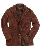 Forzieri Men'S Brown Four Pocket Italian Suede Leather Jacket - Lyst