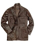 Forzieri Men'S Dark Brown Italian Four-Pocket Leather Jacket - Lyst