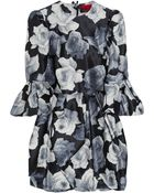 Lanvin Floral-print Cotton and Silk-blend Dress - Lyst