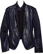 Theyskens' Theory Jola Coated-satin Blazer - Lyst
