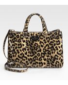 Kate Spade Brette Leopard-print Patent Leather Tote Bag - Lyst