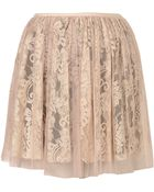 Topshop Lace Mesh Full Skirt - Lyst
