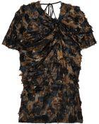 Marni Textured Printed Silk Top - Lyst