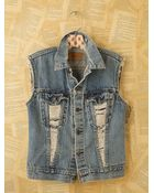 Free People Vintage Custom Denim Vests - Lyst