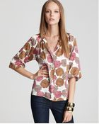 Tucker Long Sleeve Printed Blouse - Lyst
