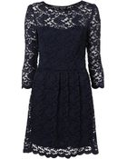 Topshop Sweetheart Lace Flippy Dress - Lyst