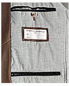 Brunello Cucinelli Brown Leather Zip Front Bomber Jacket - Lyst
