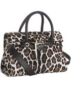 Jimmy Choo Ivory Leopard Calf Hair Rosalie Convertible Satchel - Lyst
