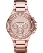 Michael Kors Glitz Watch, Rose Gold - Lyst