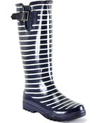 Sperry Top-sider Pelican - Navy Striped Rubber Rain Boot - Lyst