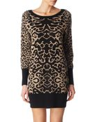 Alice By Temperley Animal Print Knitted Tunic - Lyst