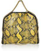 Stella McCartney Falabella Faux Python Shoulder Bag - Lyst