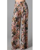 Elizabeth And James Jake Floral Printed Trouser - Lyst