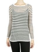 Vince Striped Sweater - Black/white - Lyst