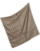 Dior Geometric Pattern Square Silk Scarf - Lyst