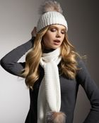 Sofia Cashmere Fur-Pom Cashmere Hat  - Lyst