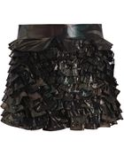 Marc By Marc Jacobs Mimosa Lame Ruffle Skirt - Lyst