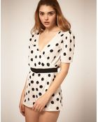 ASOS Collection Asos Playsuit in Sequin Spots - Lyst