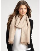 Tory Burch Wool All-Over Logo Scarf - Lyst