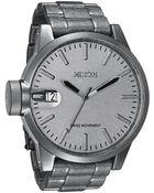 Nixon The Chronicle All Raw Steel Bracelet Watch - Lyst