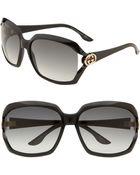Gucci Oversized Square Sunglasses - Lyst