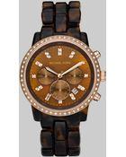 Michael Kors Tortoise Link Bracelet Chronograph Watch - Lyst