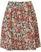 Topshop Red Ditsy Floral Skirt - Lyst