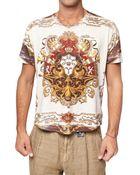 D&G Cotton Jersey Marine Print T-shirt - Lyst