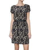 MICHAEL Michael Kors Lace Print Georgette Dress - Lyst