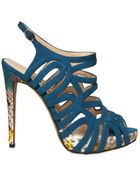 Alexandre Birman 120mm Suede & Python Cutout Sandals - Lyst