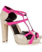 Pierre Hardy Neoprene and Patent-Leather Sandals - Lyst