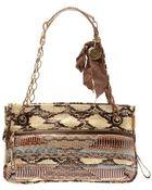 Lanvin Amalia Patchwork Snakeskin Shoulder Bag - Lyst