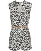 3.1 Phillip Lim Cotton-silk Leopard Printed Playsuit - Lyst