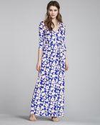 Diane von Furstenberg Abigail Maxi Wrap Dress - Lyst