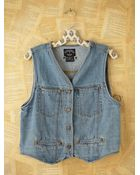 Free People Vintage Denim Vest - Lyst