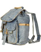Topshop Blue Acid Wash Backpack - Lyst