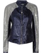 Balmain Crystal-embellished Leather Jacket - Lyst