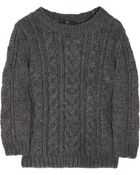 Tibi Cable-Knit Sweater - Lyst