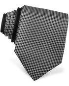Versace Logo Checked Silk Tie - Lyst