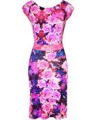 Roberto Cavalli Fuchsia Floral Dress - Lyst