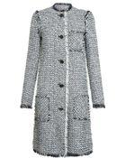 Lanvin Tweed Coat - Lyst