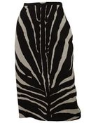Michael Kors Pencil Zebra Print Skirt - Lyst