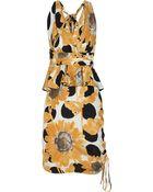 Moschino Printed Silk Dress - Lyst