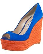 Brian Atwood Colorblock Espadrille Pump - Lyst