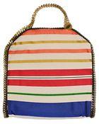 Stella McCartney Falabella Silk Striped Shoulder Bag - Lyst